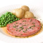 Gammon-Steak-with-a-Clear-Parsley-Sauce-